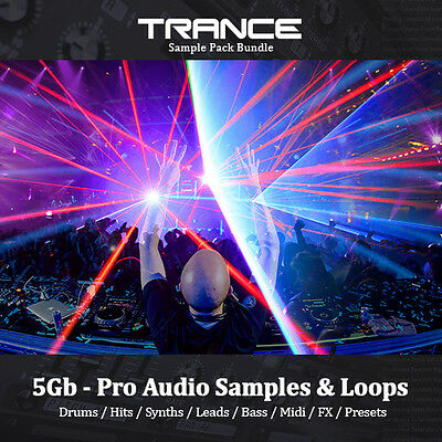 TRANCE - Huge 5Gb, Loops, Drums, Hits, Synth, Bass, Leads, Sample Pack Bundle