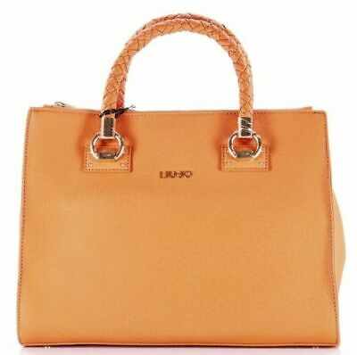 BORSA LIU JO Manhattan A68093 Bag Satchel Zip Pelle Cervo