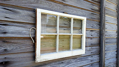 VINTAGE SASH ANTIQUE WOOD WINDOW UNIQUE FRAME PINTEREST WEDDING 28x20 SIX PANE