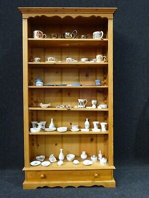 Victorian Design Pine Library Bookcase Solid Pine Reproduction Tall Good Size