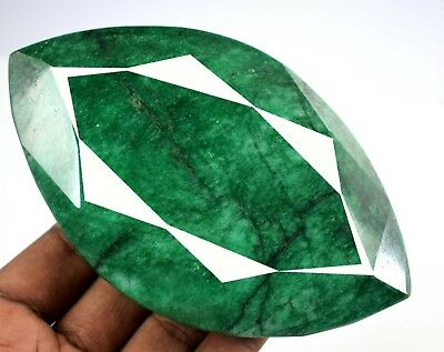 Green Emerald Loose Gemstone Huge Size 2351 Carat Natural Marquise Cut Brazilian