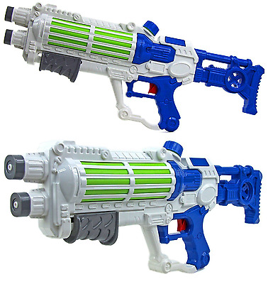 2 x WATER GUN TWO WHITE STAR GALAXY WARS STORMTROOPER PUMP ACTION SHOOTERS 940