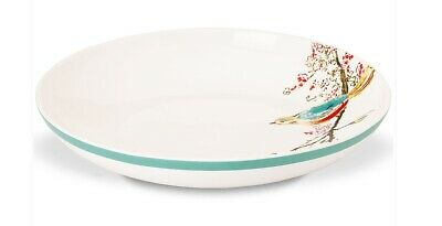 CHIRP by Lenox Simply Fine White Flowers Birds 9' Pasta Bowl