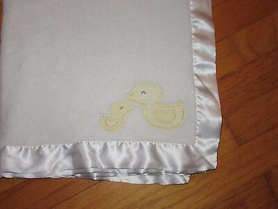 3f364791aa Carter s White Satin Trim Baby Blanket Security Lovey Yellow Mom   Baby Duck