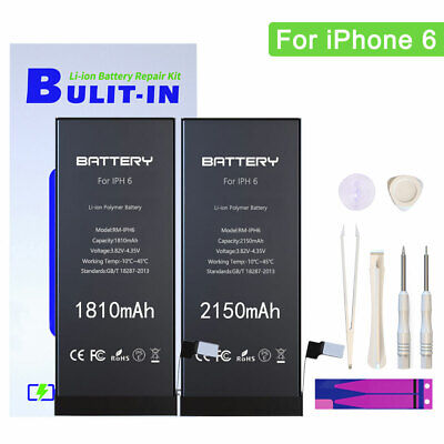 1810mAh/2150mAh Replacement Internal Li-ion Battery For IPhone 6 With Tools