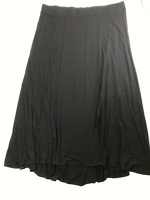 21ad0df9b1 Torrid Plus Size 4 Maxi Skirt Black Knit High Low Hem Pull-On Stretch Size