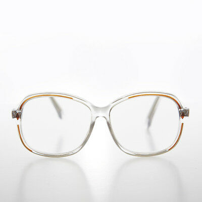 974378663dc Clear Women s Retro Reading Glasses with Brown Accents Diopter 3.50 - Kara