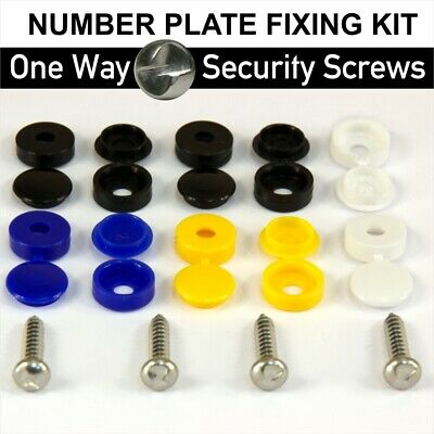 Anti-Theft Number Plate Tamper Proof Clutch Head Security Screws Fixing Kit 14pc