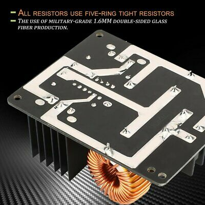 1000W 20A ZVS Low Voltage Induction Heating Coil Module Flyback Driver Heat TL