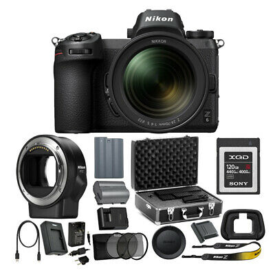 Nikon Z6 Mirrorless Digital Camera with 24-70mm Lens with Mount Adapter and Kit