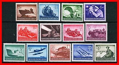 GERMANY 1944 WWII NAZI MILITARY in WWII SC#B257-69 MNH VFRESH CV$17.00 SUBMARINE