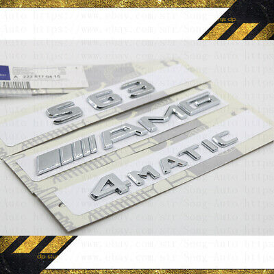 """Chrome /""""S650L/"""" Rear Trunk Emblem Decal Badge For Mercedes Benz S-Class W221//W222"""