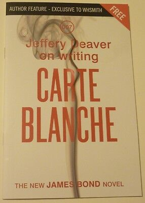 Ian Fleming's James Bond 007 Jeffrey Deaver WRITING CARTE BLANCHE Promo booklet