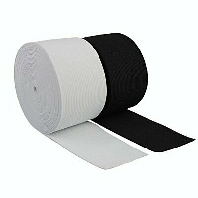 2 Inch 50Mm Wide, High Quality Woven Elastic,Black Or White & Diff Lengths