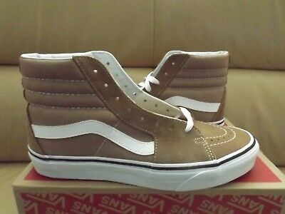ed586db57f84 Vans Sk8-Hi Men s Skateboarding Shoes 11 Tiger s Eye True White VN0A38GEQSV  NEW