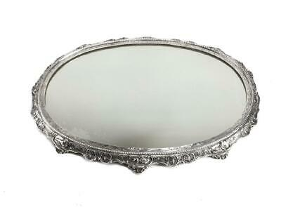 German Sterling Silver with Mirror Engraving Centerpiece Plateau, 19th Century