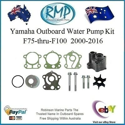 A New Water Pump Kit Yamaha 4/Stroke F75-thru-F100 # 67F-W0078-00 + Housing RMP