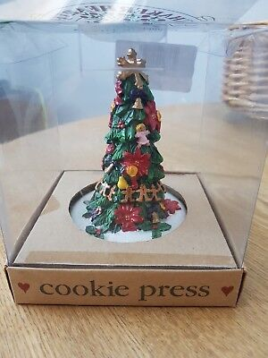 Clay Cookie Press From Shaker Hearth Christmas Tree hand moulded 1997