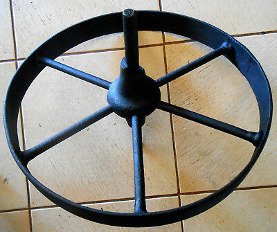 "ANTIQUE HAND FORGED 6 SPOKE 15"" WHEELBARROW WHEEL (Another 18"" Seperate Listing)"