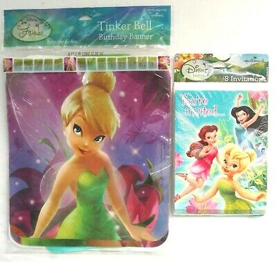Tinker Bell Disney Fairies Birthday Party Supplies Invitations Banner