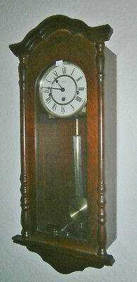 """Wm Widdop"" 8-day Westminster chiming clockwork Wall Clock, tested and working"