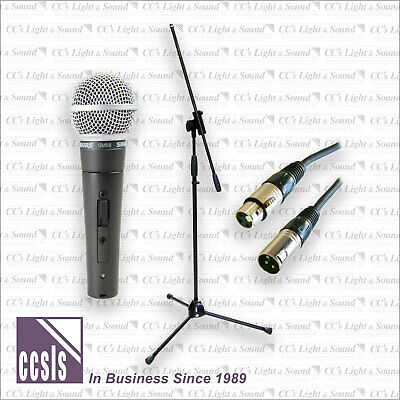 Shure Sm58S Microphone With Switch, 9M Xlr Lead And Heavy-Duty Tall Boom Stand