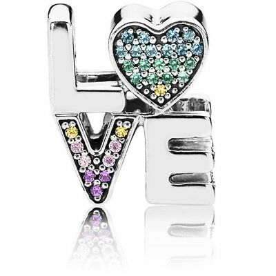 e6a6e0ad7 NEW Authentic Pandora Charm Love Multi-Colored Crystal 797189NRPMX