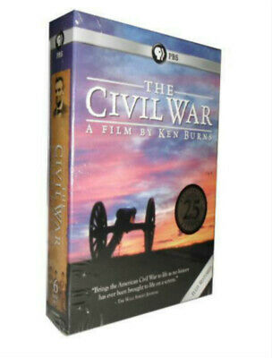 The CIVIL WAR by Ken Burns 6 DVD's Set New 25th Edition USA Sealed Box