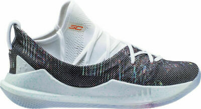 771c2f8109a Under Amour CURRY 5 Kids Youth Size 1 Basketball Shoes White 3020742-107 NEW
