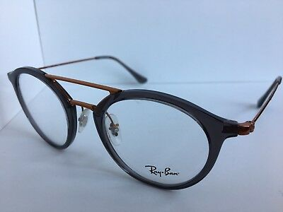 fa93ba97fe RAY-BAN RB 7097 5631 Pink on Bronze New Authentic Eyeglasses Round ...