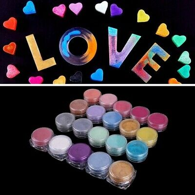12 Color Mica Pigment Powder for Soap Cosmetics Resin Colorant Dye Nail Art 50G