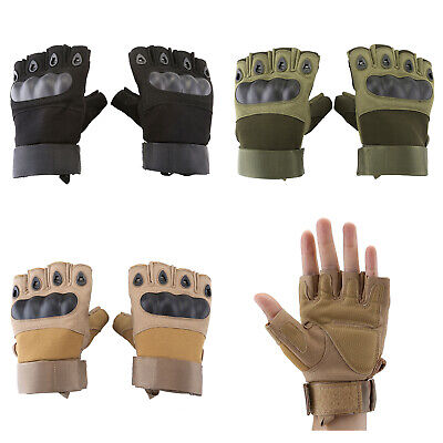 Half Finger Motorcycle Gloves Tactical Sport Protective Non Slip Outdoor Hiking