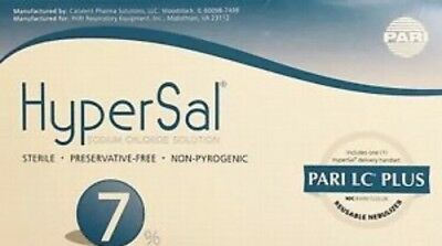 HyperSal 7% Hypertonic Saline Solution 60 Vials 4ML With PARI LC PLUS.