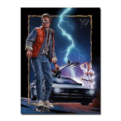 Back To The Future Movie Silk Poster Canvas Wall Art Print Home Decor 24x32 inch