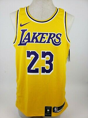 brand new 64518 4b1b6 NIKE LEBRON JAMES Icon Edition Swingman Jersey Mens L 48 Los Angeles Lakers  New