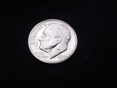 1950 Roosevelt Dime Great Proof 90 % Silver Coin!!   #50