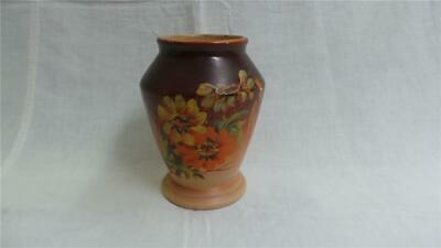 RETRO VINTAGE HAND PAINTED PORCELAIN SMALL VASE WITH DAISIES AUSTRALIA 1920's
