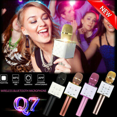 Q7 Wireless Microphone Speaker bluetooth USB KTV Karaoke Home For iphone Android