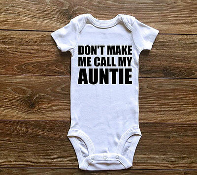 Newborn Baby Boy Girl MY AUNTIE Romper Bodysuit Jumpsuit Cotton Clothes Outfits