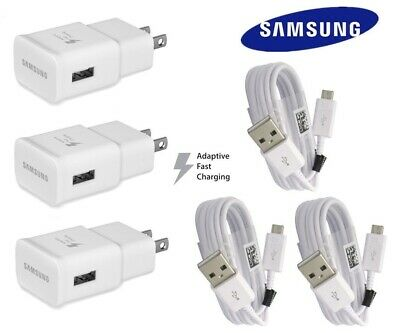 New Fast Wall Plug Charger USB cable For Samsung Galaxy S6 S7 S7 Edge Note 4 5