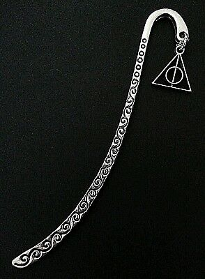 New Collectable Silver Alloy Harry Potter Deathly Hallows Charm Bookmark *
