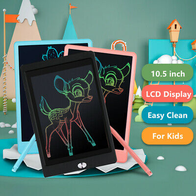LCD Pad eWriter Learn to Write Writing Board Kids Drawing Tablet Stylus Pen UK