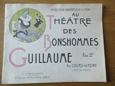 Catalogue Expo Universelle 1900 Theatre Bonhommes Guillaume Albert Marionnettes