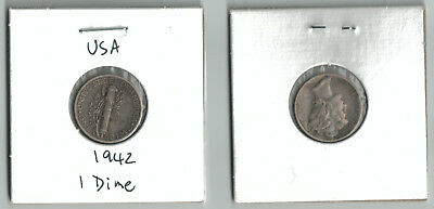 1942 USA 10 Cent coin United States of America ten cents American dime