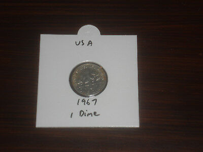 1967 USA 10 Cent coin United States of America ten cents American dime