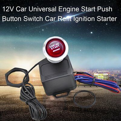 Universal Car 12V Red LED Engine Start Push Button Switch Ignition Starter KitSC