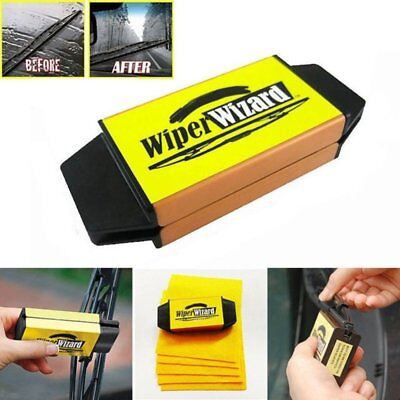 Car Van Wiper Wizard Windshield Wiper Blade Restorer Cleaner w/ 5 Wizard WipesQ1