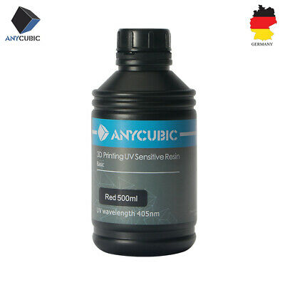 EU STOCK ANYCUBIC 500ml Red 405nm UV Sensitive Resin For 3D Printer Photon