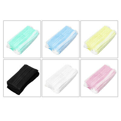 50 Pcs. Face Mask Disposable Food Medical Laboratory Experiment Salon Non Woven