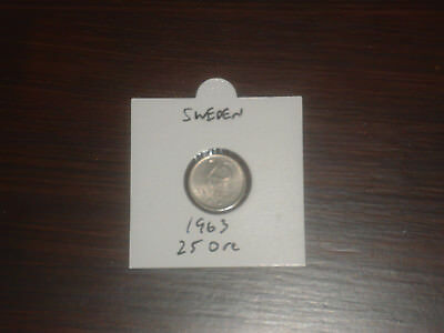 1963 Sweden 25 Ore coin Swedish twenty-five ores